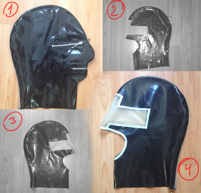 Latex mask repair and makover